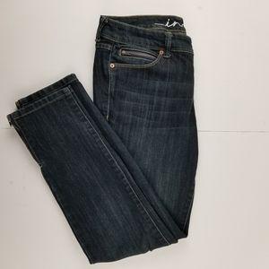 Inc EUC regular fit skinny dark wash jeans size 8